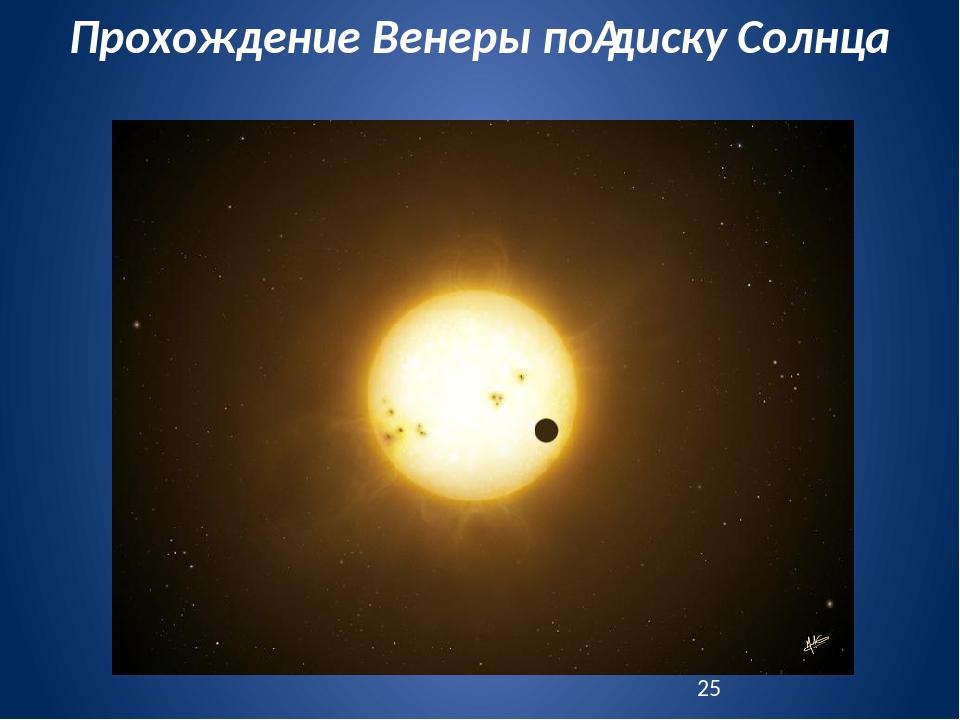 Прохождение Венеры подиску Солнца