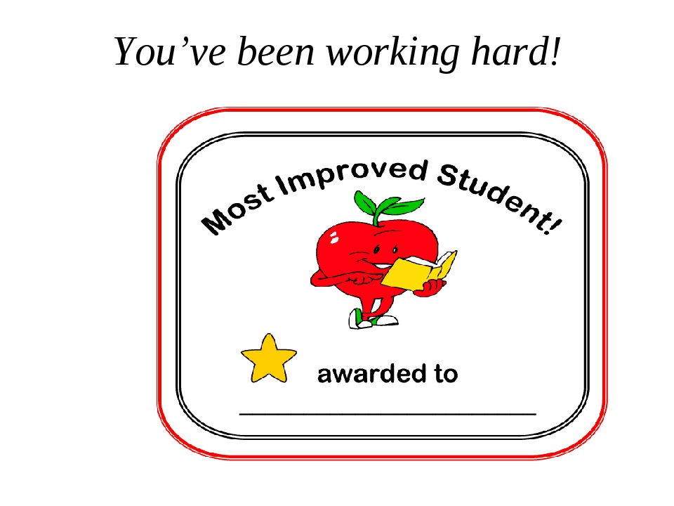 You've been working hard!