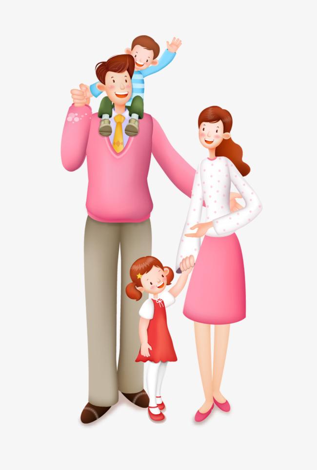Мама дочка и папа картинки для детей