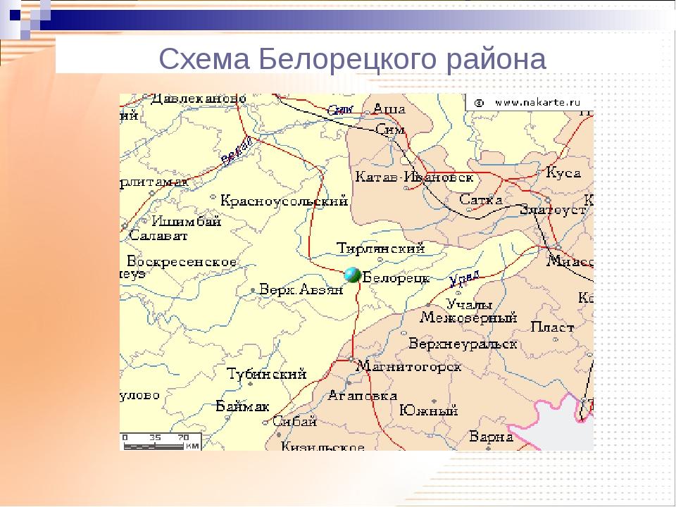 Схема Белорецкого района