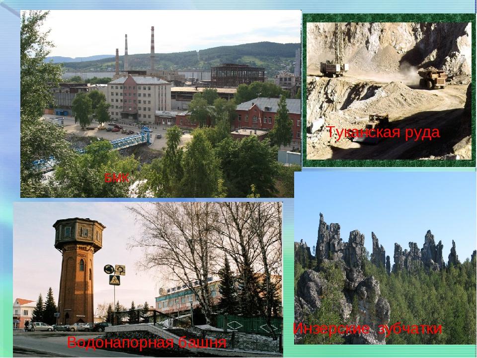 Инзерские зубчатки Туканская руда БМК Водонапорная башня