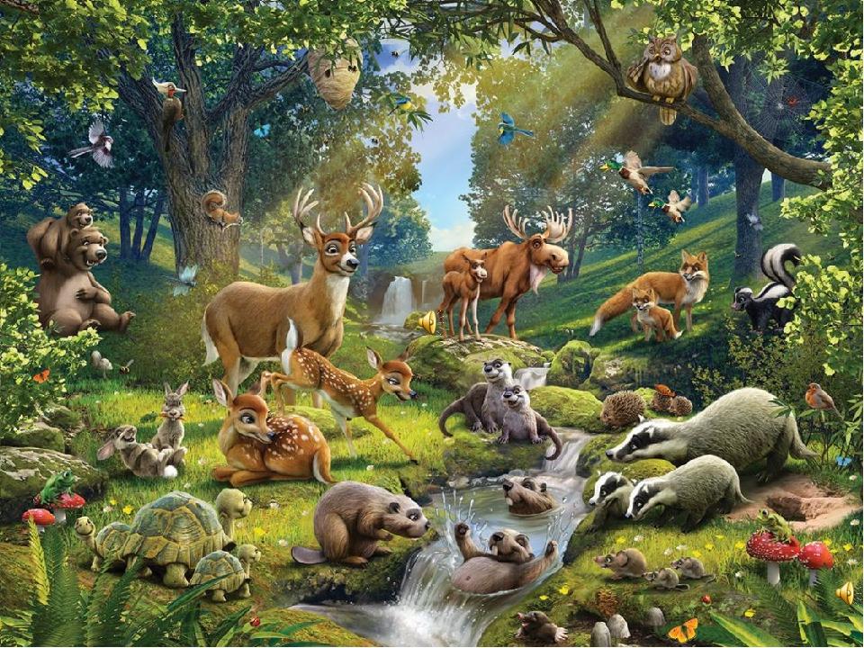 Много животных картинки для детей