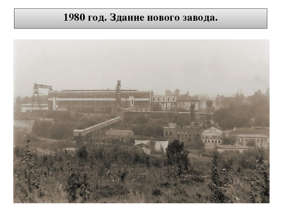 1980 год. Здание нового завода.