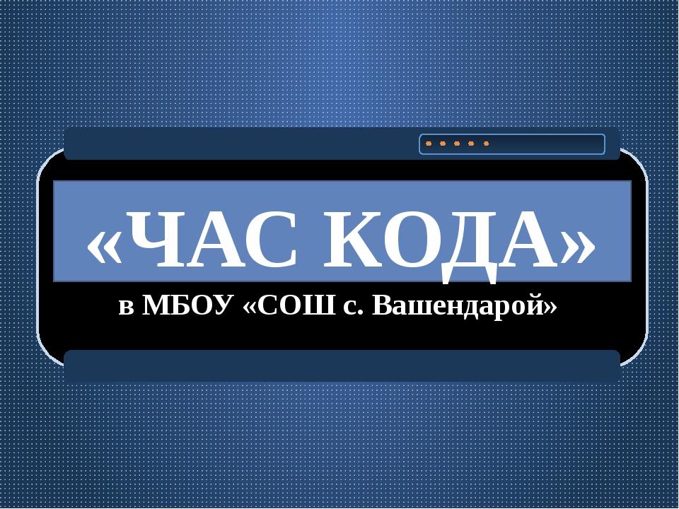 «ЧАС КОДА» в МБОУ «СОШ с. Вашендарой»