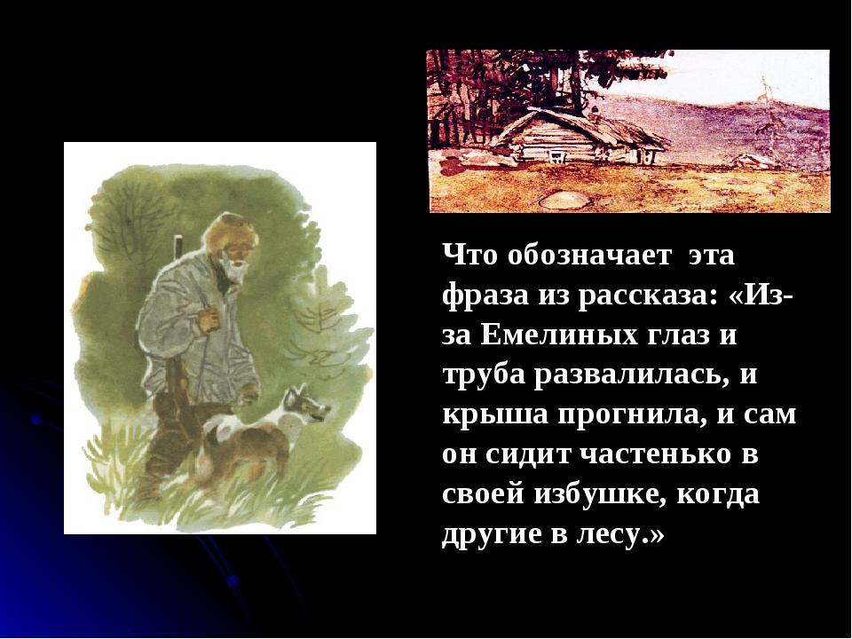 емеля охотник главные герои