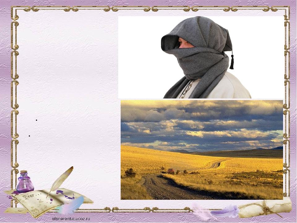 БАШЛЫК Суконный тёплый головной убор ПАМПАСЫ Южноамериканские степи