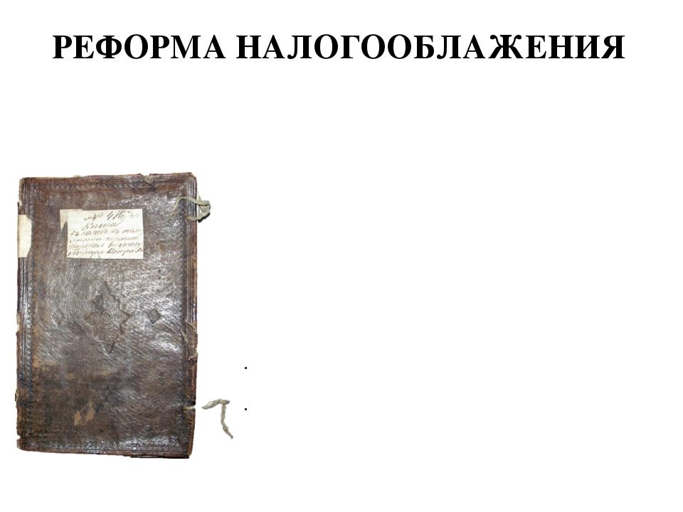 РЕФОРМА НАЛОГООБЛАЖЕНИЯ С 1679 г. при Федоре Алексеевиче было введено подворн...