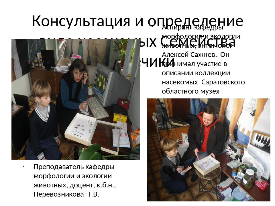 Консультация и определение вида насекомых Семейства Кузнечики Преподаватель к...