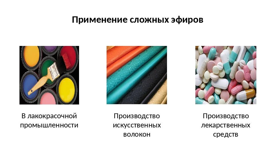 Применение сложных эфиров В лакокрасочной промышленности Производство искусст...