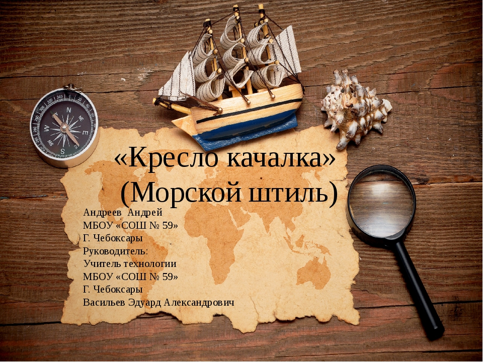 «Кресло качалка» (Морской штиль) Андреев Андрей МБОУ «СОШ № 59» Г. Чебоксары...