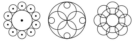 рисунок из окружностей циркулем находится шлагбаумом, территории