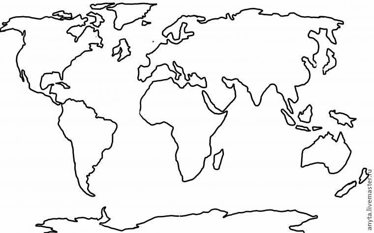 раскраска континенты земли можно
