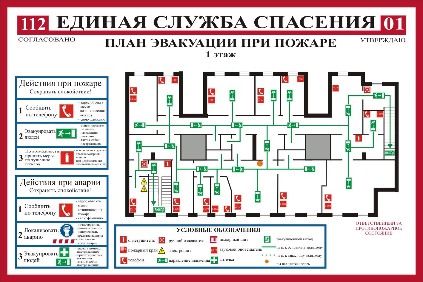 вот картинки для плана пожарной эвакуации этих старых покалеченных