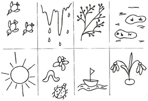Задания весна для дошкольников в картинках