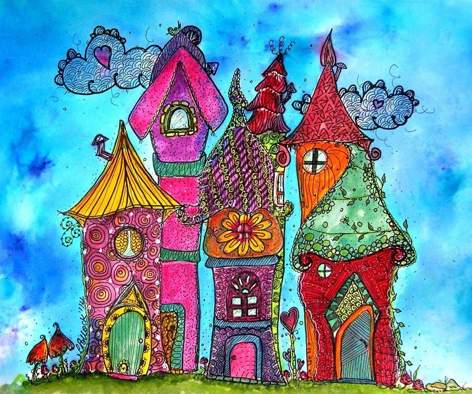 Необычные дома нарисованные картинки