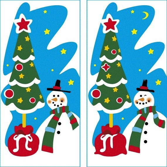 игры найди отличия новогодние картинки снежного городка обычно