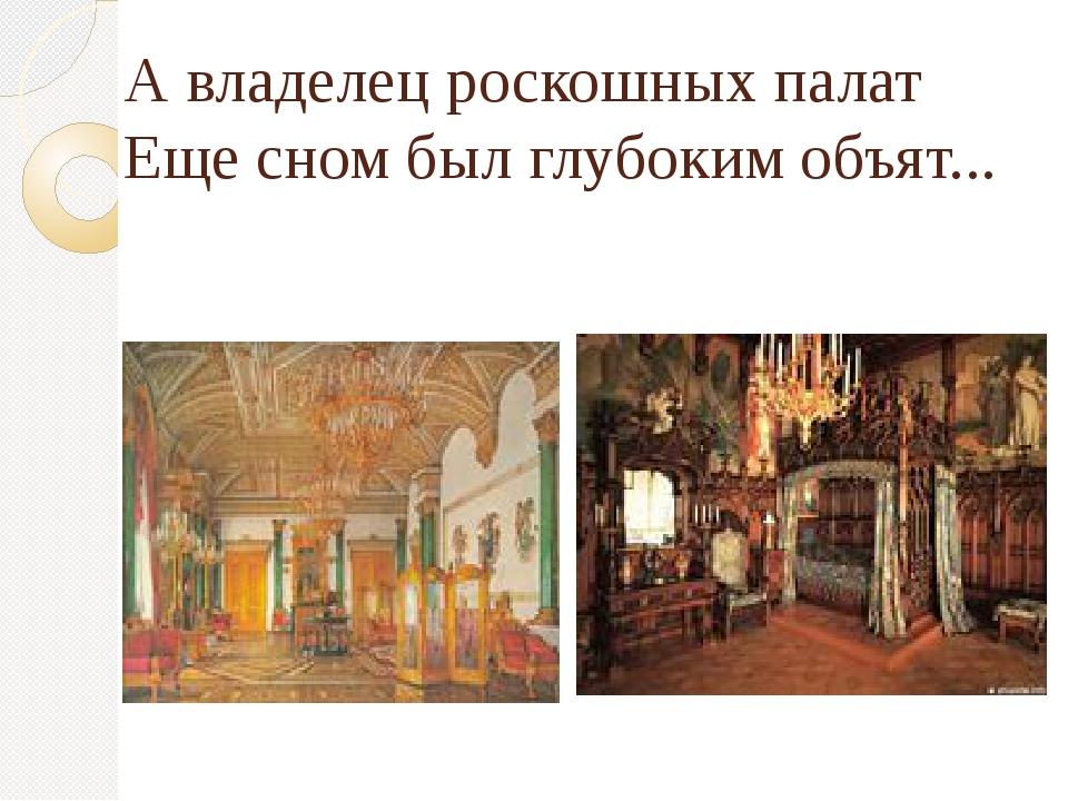 А владелец роскошных палат Еще сном был глубоким объят...