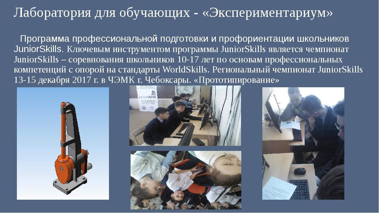 Лаборатория для обучающих - «Экспериментариум» Программа профессиональной по...