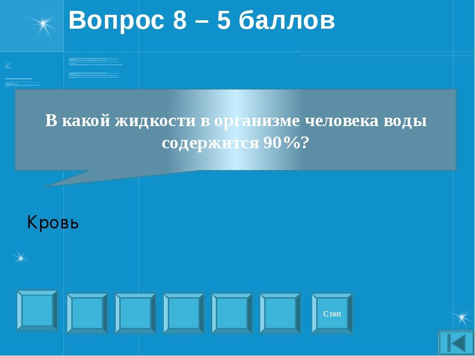 Вопрос 2 – 20 баллов Стоп Заводь. Небольшой залив в реке или озере с замедлен...