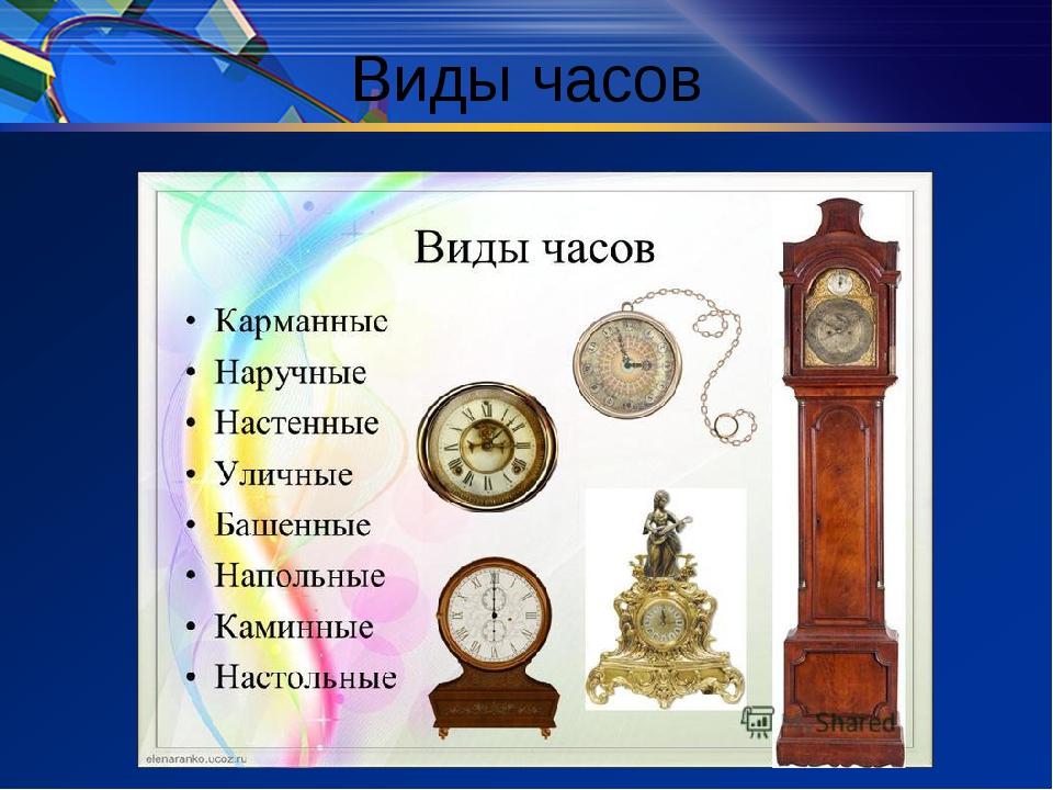 Картинки с разными видами часов