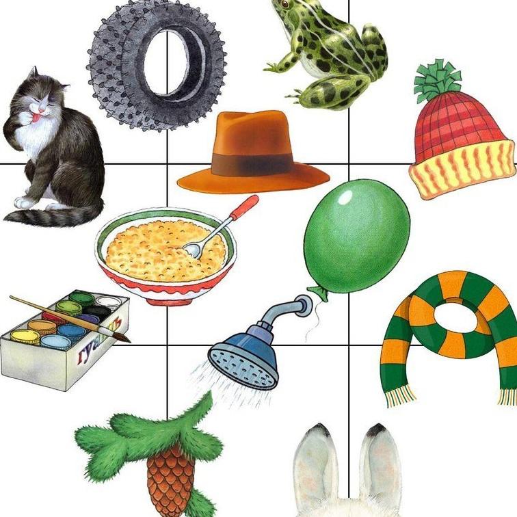 Найди предметы со звуком ш на картинке