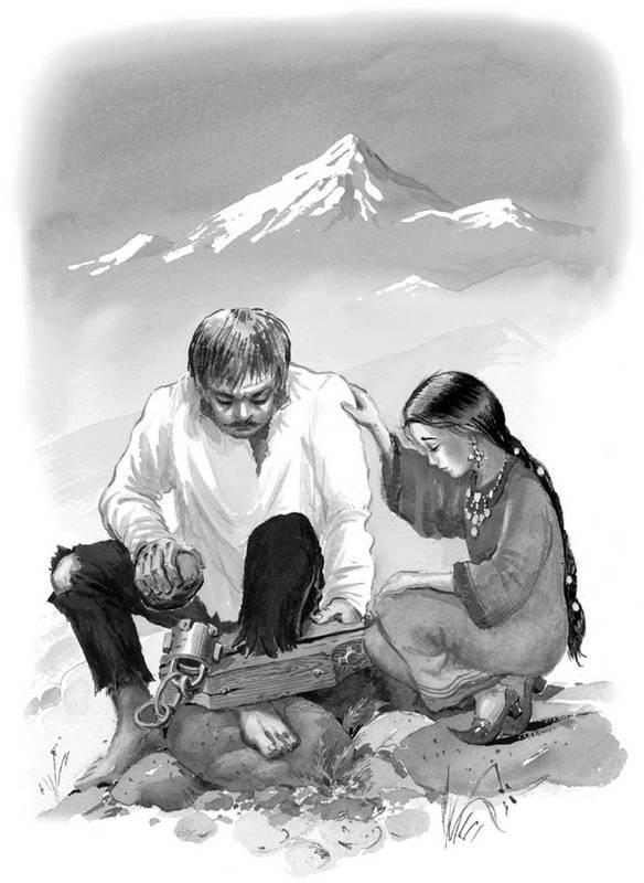 Кавказский пленник картинки раскраски