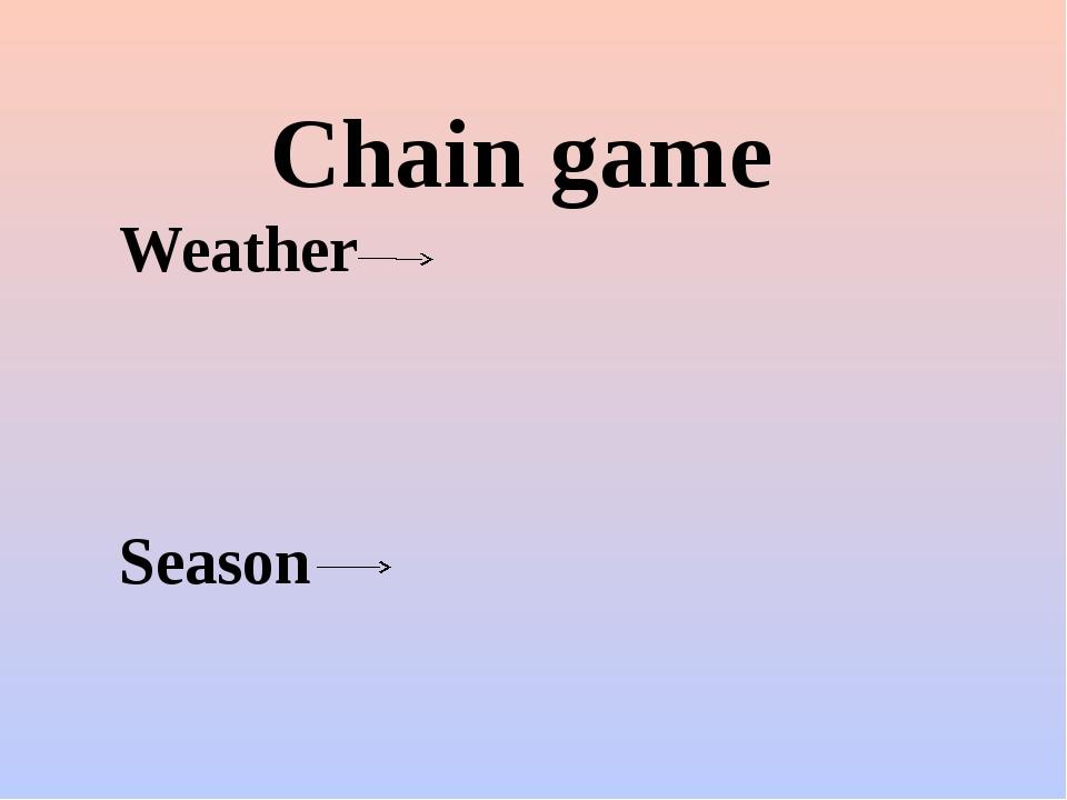 Chain game Weather Season