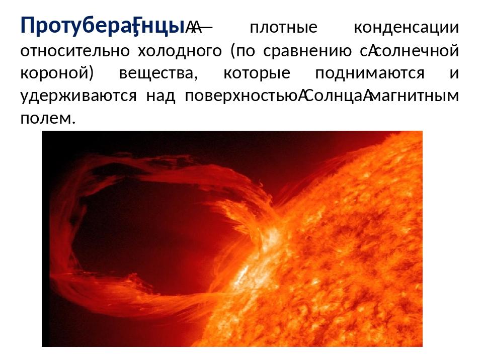 Протубера́нцы— плотные конденсации относительно холодного (по сравнению сс...