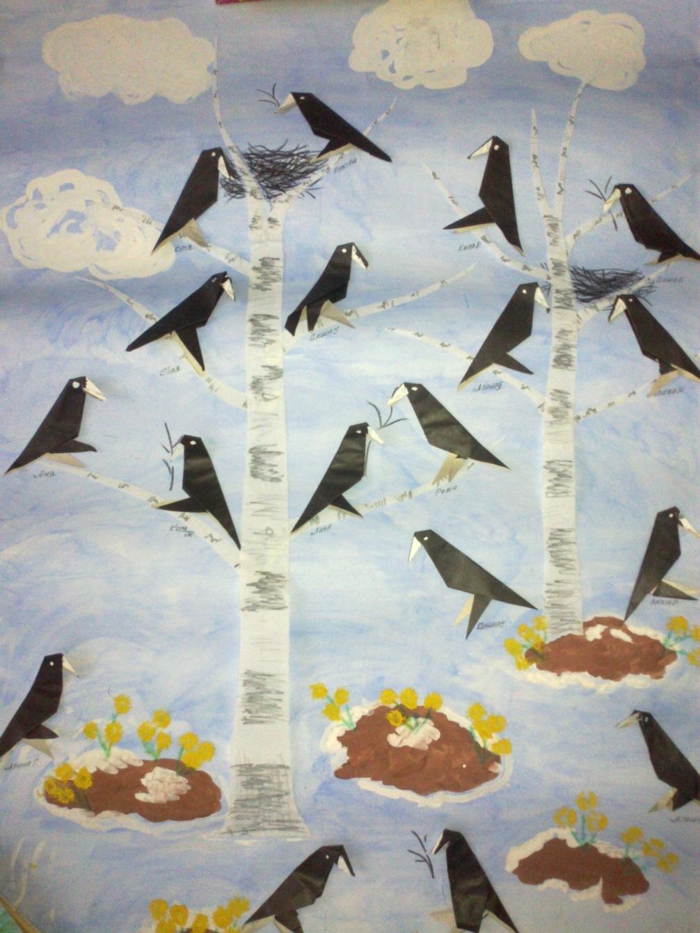 Перелетные птицы картинки для аппликации тем