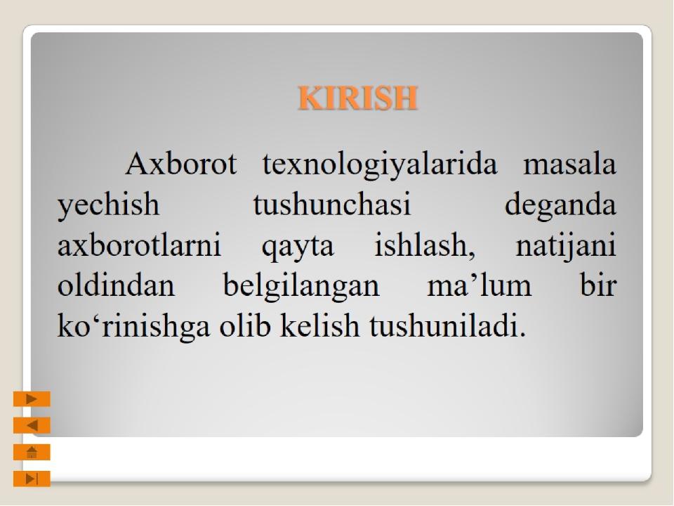 KIRISH