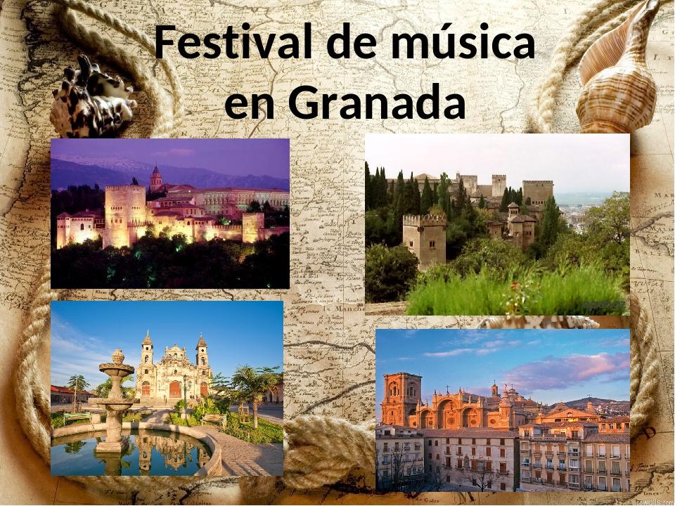 Festival de música en Granada