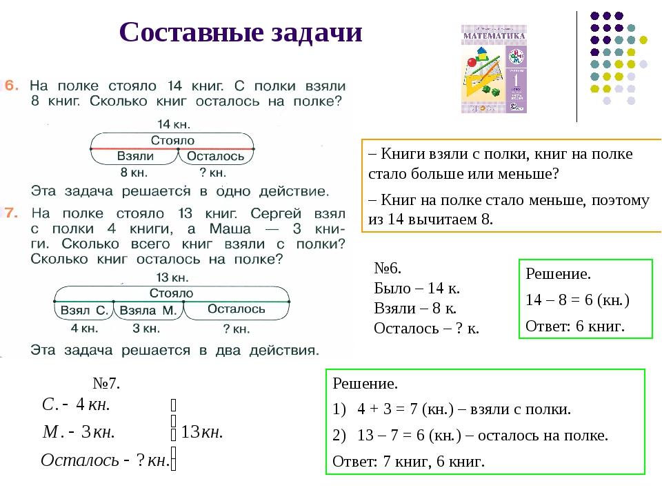 Решение задачи по математике действия решить задачу 302