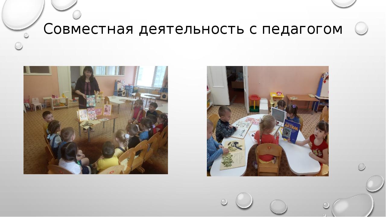 Совместная деятельность с педагогом