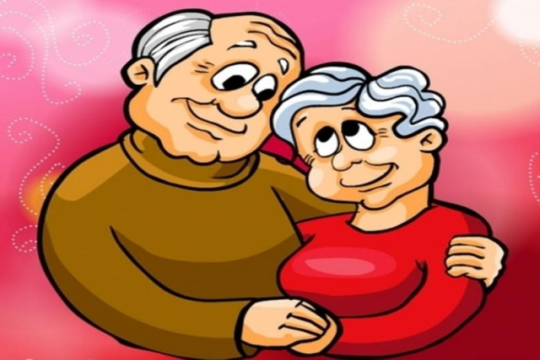 Картинка для открытки бабушка с дедушкой, раскраски