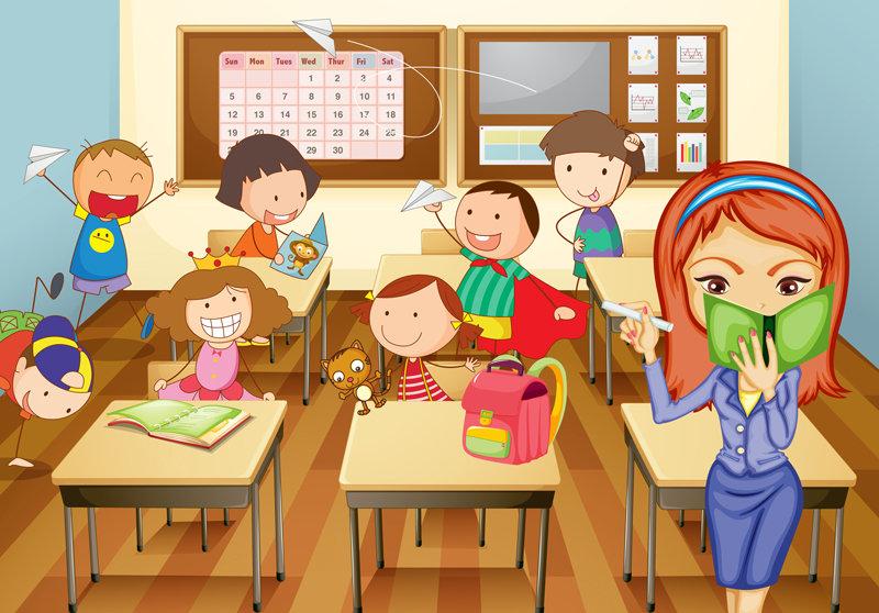 Картинки дети класса нарисованные