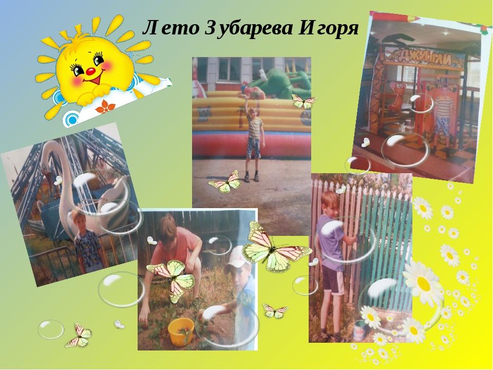 Лето Зубарева Игоря