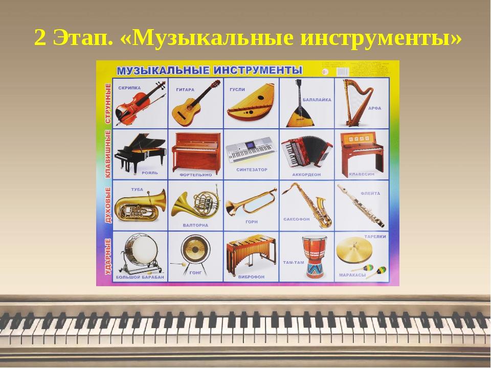 2 Этап. «Музыкальные инструменты»