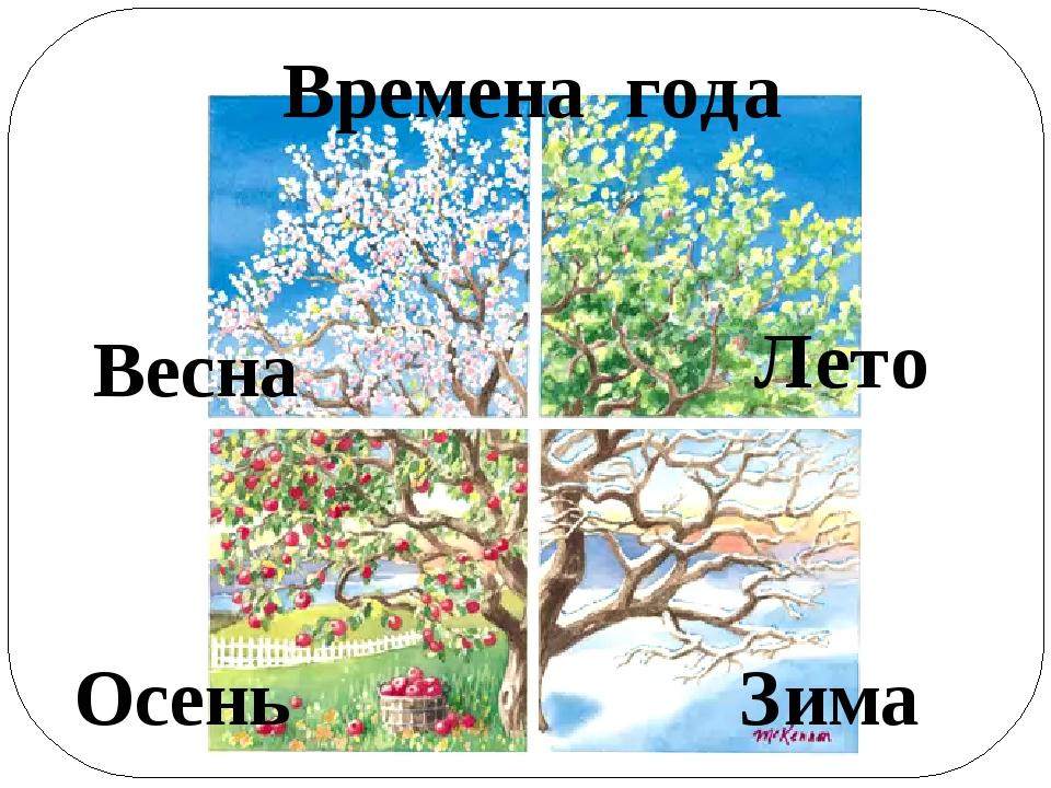 Времена года Весна Лето Осень Зима