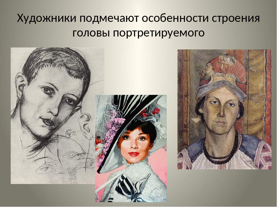 Художники подмечают особенности строения головы портретируемого