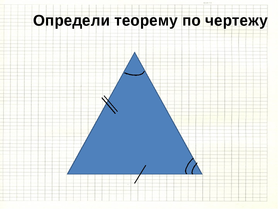 Определи теорему по чертежу