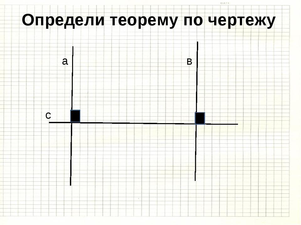 Определи теорему по чертежу а в с