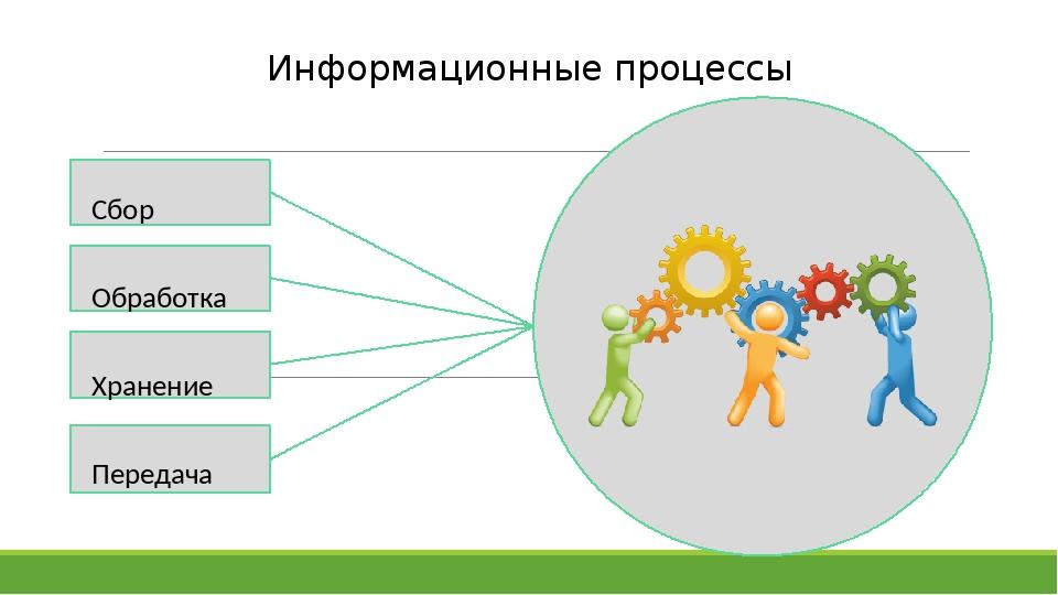 Сбор Обработка Хранение Передача Информационные процессы В качестве цвета вс...