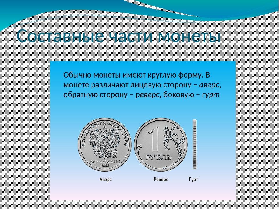 Составные части монеты