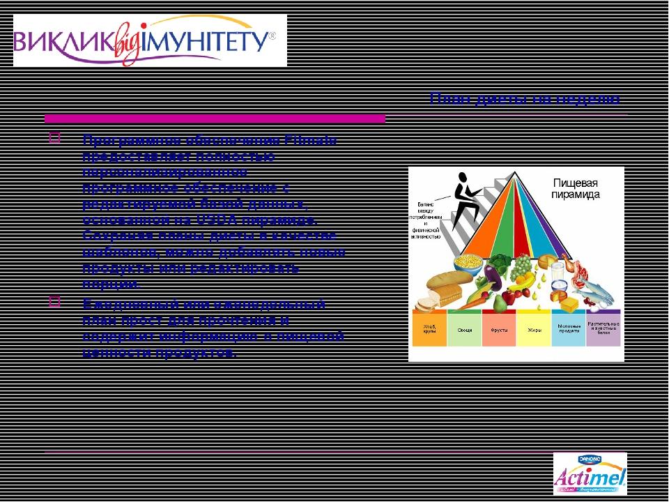 План диеты на неделю Программное обеспечение Fitmate предоставляет полностью...