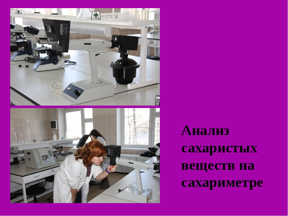 Анализ сахаристых веществ на сахариметре