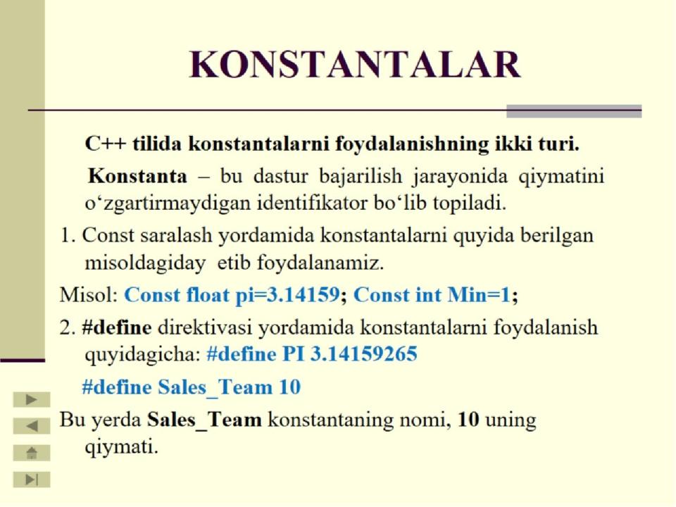 KONSTANTALAR