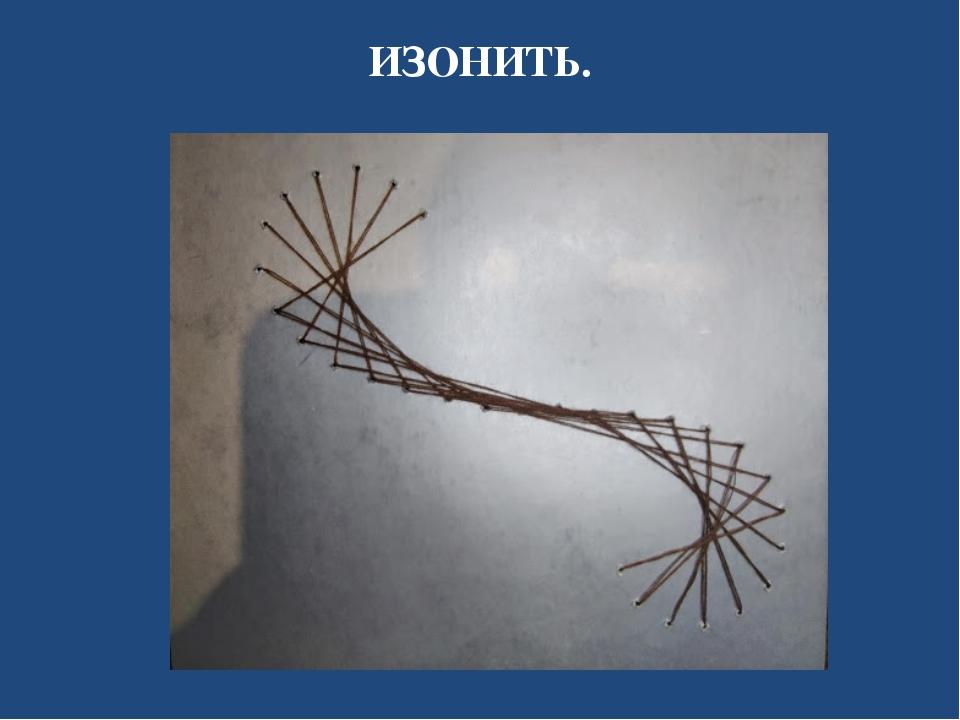 ИЗОНИТЬ.