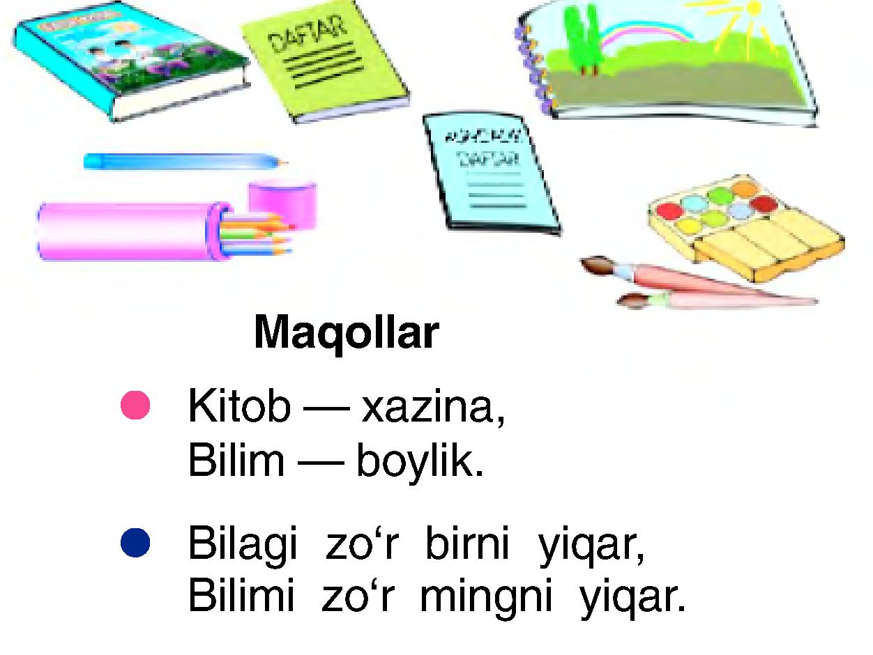 Kitobim oftobim 4 sinf