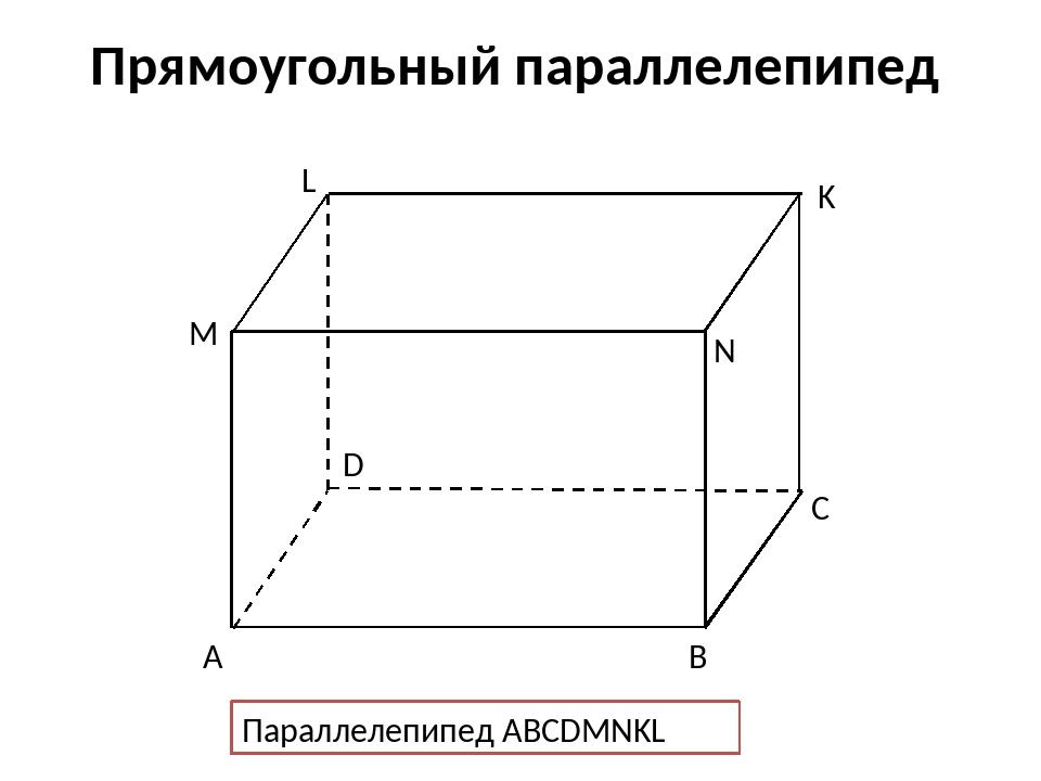 Картинки прямоугольный параллелепипед