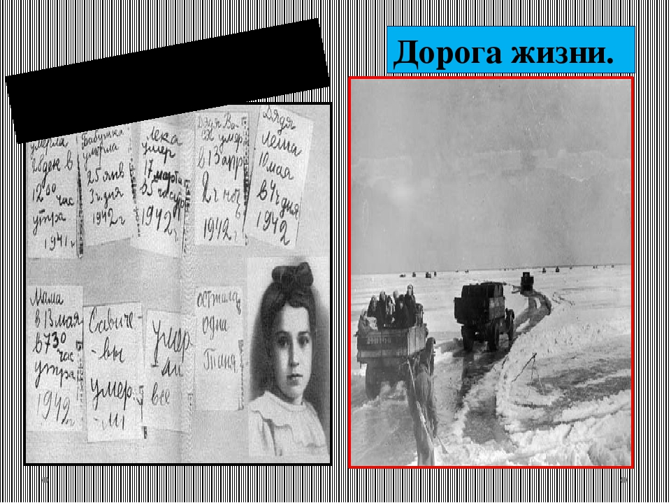 Дневник Тани Савичевой. Дорога жизни.